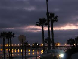 Oceanside Pier awaiting lightning