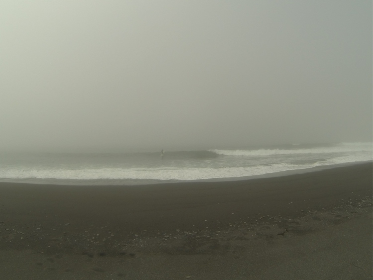 So, I actually surfed at a backup spot, knowing the tide was all wrong, the waves would be (and were) totally closing-out. This is the third place I checked, the second I surfed. A lot of walking was involved. My line on this is: