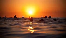 surferslineupsunset